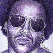 Lenny Kravitz Poster by Maria Arango