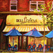 Lesters Cafe Poster by Carole Spandau