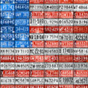 License Plate Flag Of The United States Poster by Design Turnpike