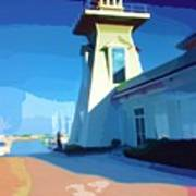 Lighthouse Poster by Deborah MacQuarrie-Haig