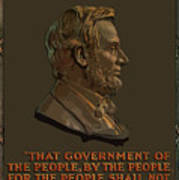 Lincoln Gettysburg Address Quote Poster by War Is Hell Store