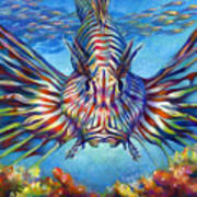 Lion Fish Poster by Nancy Tilles