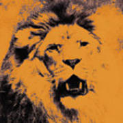 Lion Pop Art Poster by Angela Doelling AD DESIGN Photo and PhotoArt
