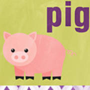 Little Pig Poster by Linda Woods