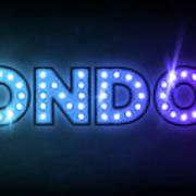 London In Lights Poster by Michael Tompsett