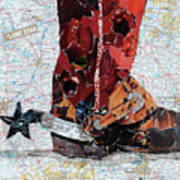 Lone Star Spur Poster by Suzy Pal Powell