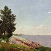 Long Island Sound At Darien Poster by John Frederick Kensett