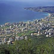 Looking Over Jounieh Bay From Harissa Poster by Sami Sarkis