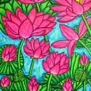 Lotus Bliss Poster by Lisa  Lorenz