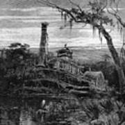 Louisiana: Steamboat Wreck Poster by Granger