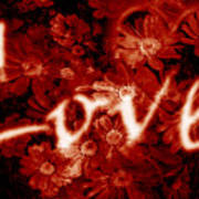 Love With Flowers Poster by Phill Petrovic