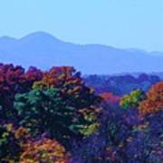 Lovely Asheville Fall Mountains Poster by Ray Mapp