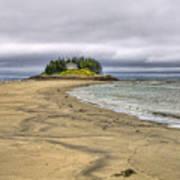 Low Tide In Popham Beach Maine Poster by Tammy Wetzel