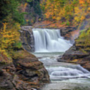 Lower Falls In Autumn Poster by Rick Berk