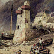 Lynmouth In Devonshire Poster by Myles Birket Foster