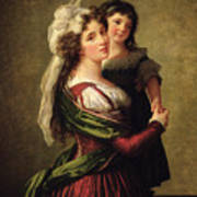 Madame Rousseau And Her Daughter Poster by Elisabeth Louise Vigee Lebrun
