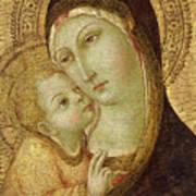Madonna And Child Poster by Ansano di Pietro di Mencio