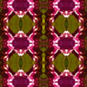 Magenta Crystal Pattern Poster by Amy Vangsgard