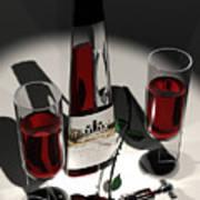 Malbec Wine - Romance Expectations Poster by Stuart Stone