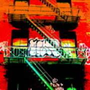 Manhattan Fire Escape Poster by Funkpix Photo Hunter