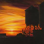 Manhattan Sunset Poster by Christopher Oakley