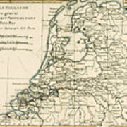Map Of Holland Including The Seven United Provinces Of The Low Countries Poster by Guillaume Raynal
