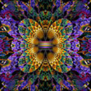 Mardi Gras Split Crop Poster by Peggi Wolfe