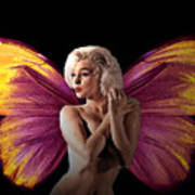 Marilyn Monroe The Fairy Poster by Tray Mead