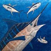 Marlin And Ahi Poster by Carol Lynne