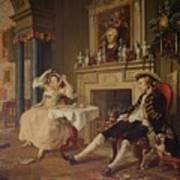 Marriage A La Mode II The Tete A Tete Poster by William Hogarth