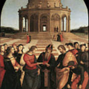 Marriage Of The Virgin - 1504 Poster by Raphael
