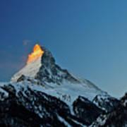 Matterhorn Switzerland Sunrise Poster by Maria Swärd