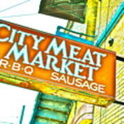 Meat On The Market Poster by Chuck Taylor