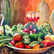 Mediterranean Table Poster by Karen Stark