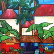 Mercado En Puerto Rico Poster by Patti Schermerhorn