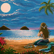 Mermaid Making Leis Poster by Gale Taylor