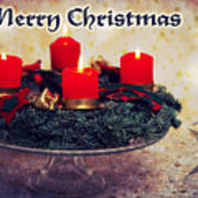 Merry Christmas Poster by Angela Doelling AD DESIGN Photo and PhotoArt