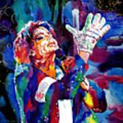 Michael Jackson Sings Poster by David Lloyd Glover