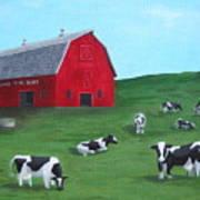 Milking Time Dairy Poster by Kerri Ertman
