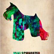 Miniature Schnauzer Poster 2 Poster by Naxart Studio