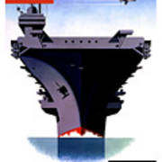 Modern Mobile Mighty Navy Poster by War Is Hell Store