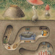Mole Poster by Kestutis Kasparavicius