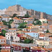 Molyvos Lesvos Greece Poster by Eric Kempson