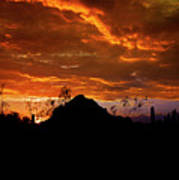Monsoon Sunset  Poster by Saija  Lehtonen