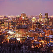 Montreal City Lights Poster by Pierre Leclerc Photography
