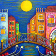 Moonlit Venice Poster by Lisa  Lorenz