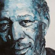 Morgan Freeman Poster by Paul Lovering