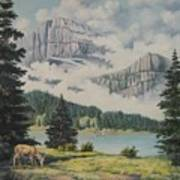 Morning At The Glacier Poster by Wanda Dansereau