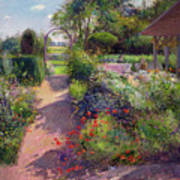 Morning Break In The Garden Poster by Timothy Easton