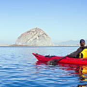 Morro Bay Kayaker Poster by Bill Brennan - Printscapes